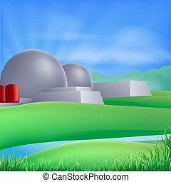 Ilustración de energía nuclear
