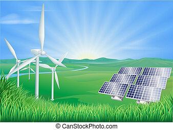 Ilustración de energía renovable