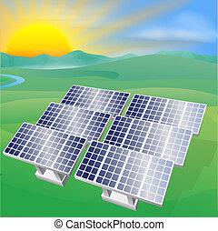 Ilustración de energía solar