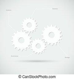 Ilustración de engranajes