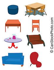 Ilustración de equipo de muebles en vector