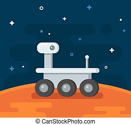 Ilustración de exploración de Marte