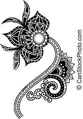 Ilustración de flores de Paisley