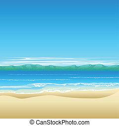 Ilustración de fondo de la playa tropical