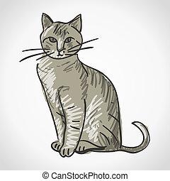 Ilustración de gatos