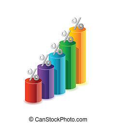 Ilustración de gráficos porcentaje