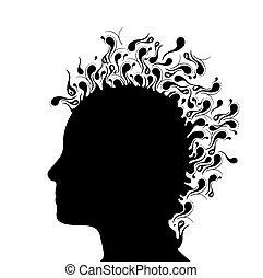 Ilustración de la cabeza de una mujer