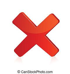 Ilustración de la cruz roja en un fondo aislado