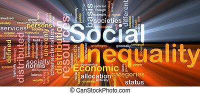 Ilustración de la desigualdad social