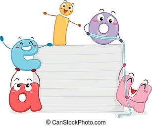 Ilustración de la tabla de papel