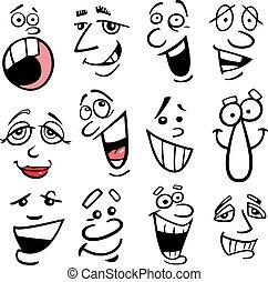 Ilustración de las emociones cartulinas