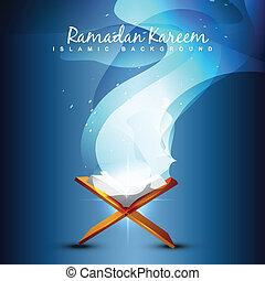 Ilustración de libros de Quraan