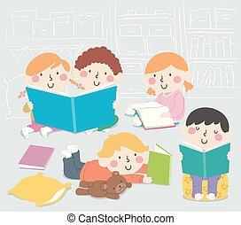 Ilustración de libros infantiles