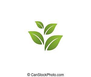 Ilustración de logo de ecología: vectores