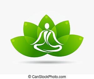 Ilustración de loto de yoga