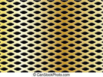 Ilustración de malla de oro