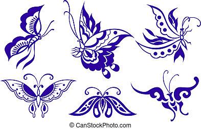 Ilustración de mariposas