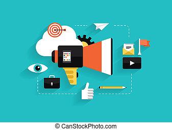Ilustración de mercadotecnia social