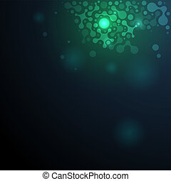 Ilustración de moléculas de ADN