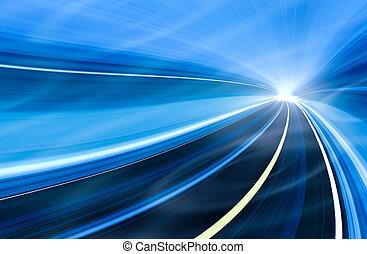 Ilustración de movimiento de velocidad