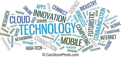 Ilustración de nubes de tecnología