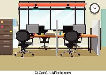 Ilustración de oficina vacía