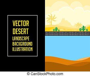 Ilustración de paisajes del desierto Vector