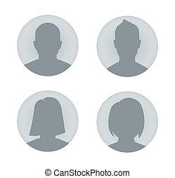 Ilustración de perfil de hombre y mujer