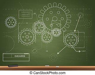Ilustración de planos de Gears