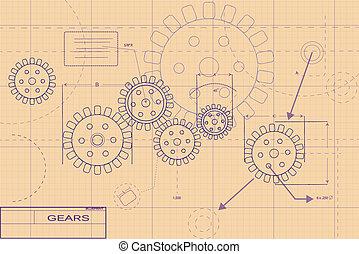 Ilustración de planos púrpura