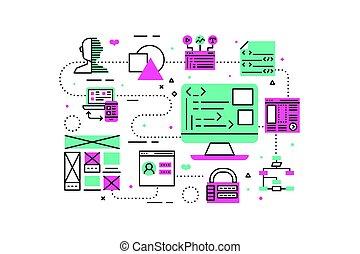 Ilustración de programación web