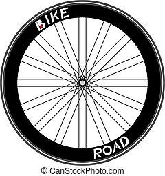 Ilustración de ruedas de carretera
