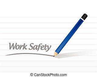 Ilustración de señales de seguridad del trabajo