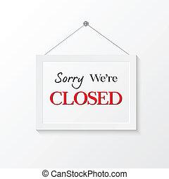 Ilustración de signos cerrados