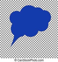 Ilustración de signos de especímen. icono azul en retroceso transparente