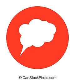 Ilustración de signos de especímen. icono blanco en el círculo rojo.
