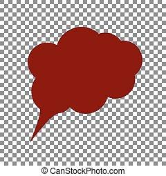 Ilustración de signos de especímen. Icono de Maroon en la espalda transparente