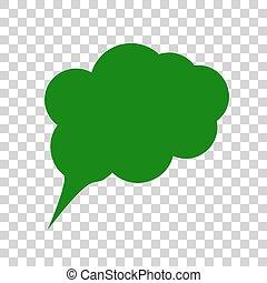 Ilustración de signos de especímen. Un icono verde oscuro en el fondo transparente.