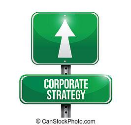 Ilustración de signos de la calle de estrategia corporativa