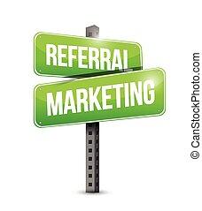 Ilustración de signos de marketing de referencia