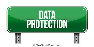 Ilustración de signos de protección de datos