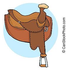 Ilustración de sillas de caballo