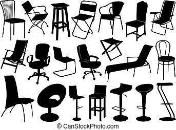 Ilustración de sillas puestas