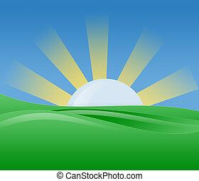 Ilustración de sol de la mañana