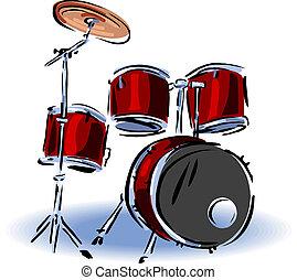 Ilustración de tambores