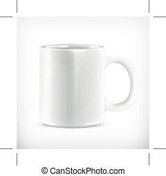 Ilustración de taza blanca