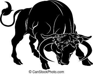 Ilustración de toros
