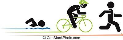 Ilustración de triatlón