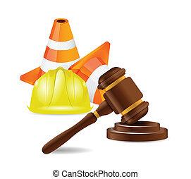 Ilustración de un abogado de accidentes de trabajo