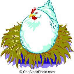 Ilustración de un pollo